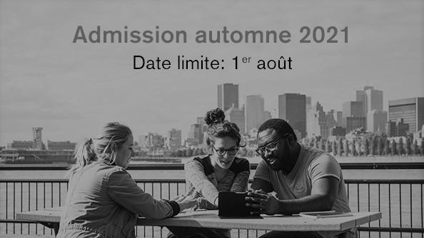 Admission automne 2021